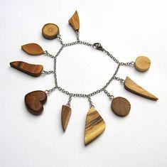 wlkr / Drevené náramky/Retiazkové / Retiazkový náramok s drievkami - - My site Jewelry, Fashion, Moda, Jewlery, Jewerly, Fashion Styles, Schmuck, Jewels, Jewelery