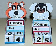 Eeuwig durende kalender -- een leuk knutselwerkje Family Crafts, Mother And Father, Fathers Day, Children, Kids, Origami, Clock, Fancy, Diy Crafts