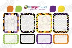 Functional Boxes and Teardrops | Halloween Themed Planner Stickers | Erin Condren Life Planners, Plum Paper, Filofax, Scrapbooking, Calendars