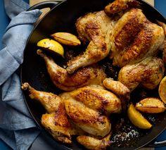 Spatchcocked Lemon Herb Chicken: Recipes + Menus : gourmet.com