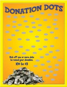 The easiest fundraiser around - scratch off to see what amount customers donate with Donation Dots cards Scratch Off Cards, Grant Writing, Relay For Life, School Fundraisers, Silent Auction, Bake Sale, How To Raise Money, Fundraising Ideas, Dots