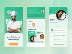 Recipes App by Rizal Gradianto Application Design, Mobile Application, App Design Inspiration, Mobile App Design, Computer Programming, User Interface, Ui Design, Branding, Learning
