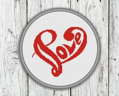 Love Letters and Heart Counted Cross Stitch by CrossStitchShop