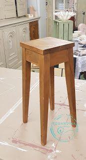 RegAndina Alkotóműhely: Bútorfestés krétafestékkel kezdőknek 10 egyszerű lépésben Diy And Crafts, Stool, Table, Furniture, Home Decor, Projects, Decoration Home, Room Decor, Tables