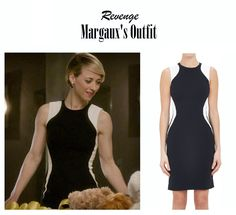 "March 23, 2015 @ 9:28 pm Karine Vanasse as Margaux Lemarchal in Revenge – ""Loss"" (Ep. 417). Margaux's Dress: Stella McCartney Contour Sheath Dress $1,865 here 