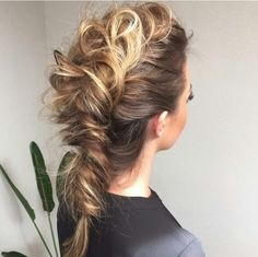 Just love this pulled out mohawk braid