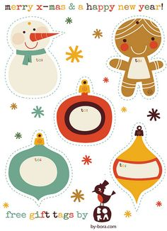 Free to download Gift Tags by BORA by by BORA, via Flickr