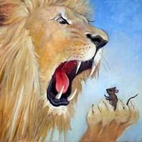 CBIG - The Children's Book Illustrators Group: Aesop's Fables - The Lion and the Mouse Lion And The Mouse, Quiet People, Roaring Lion, Find Friends, Jada, Childrens Books, Illustrators, Painting, Aesop's Fables
