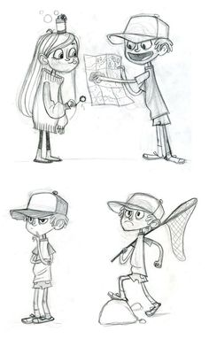 """""""Gravity Falls"""" Characters. The more I look at them the more I see how perfect…"""