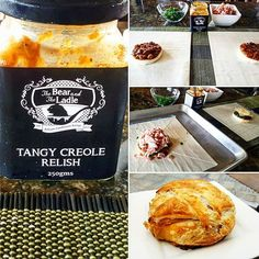 Triple brie slathered in Tangy Creole Relish, spring onions and bacon pieces and wrapped up in puff pastry...bake... Result: Baked, cheesy, puffy relishy, bacony, awesomeness!!!! #thebearandtheladle #tangycreolerelish #notjustacondiment #triplebrie #bacon #springonions #puffpastry #yum #sogood #tasty #foodface #sunshinecoast #sunshinecoastfood #trishystyle #creatingfortheloveofit