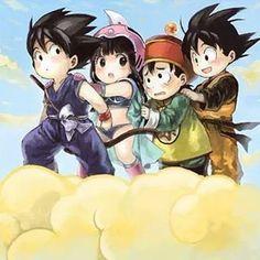 Kid Goku , Chichi , Gohan , Goten so cool