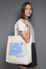Torba bawełniana (średnia) Art isn't paint it's love