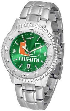 Miami Hurricanes- University Competitor Anochrome - Steel Band - Men's - Men's College Watches by Sports Memorabilia. $87.08. Makes a Great Gift!. Miami Hurricanes- University Competitor Anochrome - Steel Band - Men's