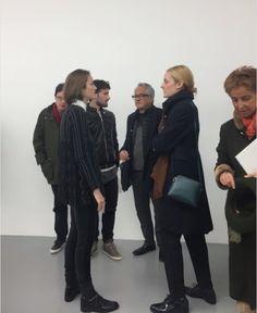 Francesco De Prezzo and Anish Kapoor at Galleria Massimo Minini Brescia - Italy