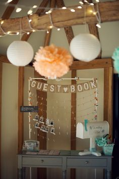 Soft Romantic Rustic Peach Mint Wedding Guestbook http://www.rebeccadouglas.co.uk/
