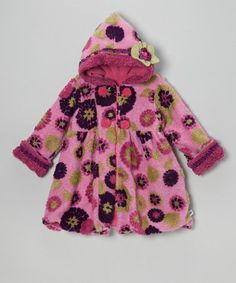 Take a look at this Berry & Purple Mum Mary-Jayne Coat - Toddler & Girls by Corky & Company on #zulily today!