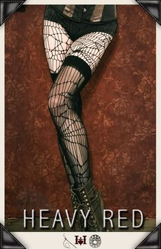 Gothic Pants, Leggings, Hosiery, bustles and intimates by Gothic Clothing designer Ondine for Heavy Red Couture Noir. Goth to punk Victorian to Edwardian Steampunk Couture Gothic Fashion.