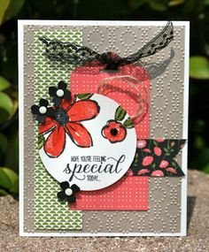 Krystal's Cards: Stampin' Up! Pretty Petals Garden in Bloom #stampinup #krystal_cards #gardeninbloom #onlinestampclass #handstamped #cardmaking #papercrafts #sendacard #stampsomething