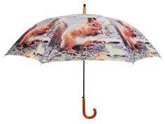 Parapluie Écureuil en Nylon et Bois 121x95cm sur Jardindeco