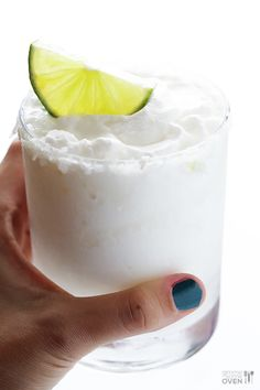 Frozen Coconut Margarita -- quick and easy to make, and so refreshing!   gimmesomeoven.com