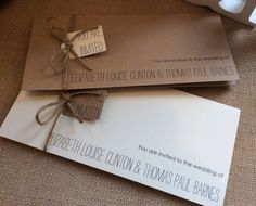 Vintage/Rustic wedding invitation with RSVP and information sheet - Elizabeth Range