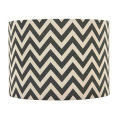Navy and Tan Chevron Lamp Shade 7X10X8-in