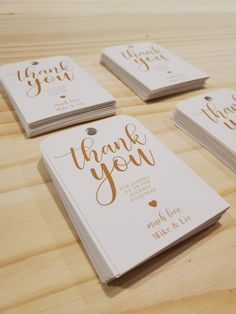 Custom printed thank you tags for guest favors