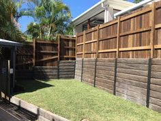 Pioneer Ironbark Concrete Sleeper & Galvanised Steel Post Retaining Wall
