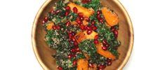 Crispy Kale Salad with Roasted Butternut Squash and Pomegranate Arils (gluten free + vegan)  Source: Post-Holiday Detox: Crispy Kale Salad | Free People Blog http://blog.freepeople.com/2013/01/postholiday-detox-crispy-kale-salad/#ixzz2RnLKFZKp