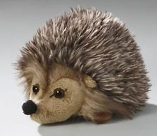 NEW Soft Toy Hedgehog grey 16cm.