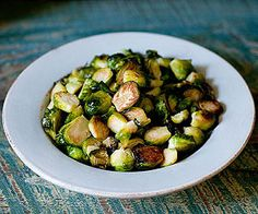 Brussels sprouts transform into crispy, poppable treats after 10 minutes in a piping-hot oven.