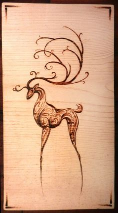 Winter Wonderland Woodland Decor - Woodburning on Birch - Art Block
