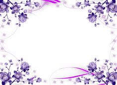 Purple Flower Borders and Frames Flower Picture Frames, Flower Frame Png, Flower Border Png, Floral Border, Flower Borders, Star Pictures, Flower Pictures, Pictures Images, Image Transparent