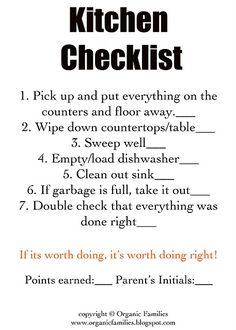 Tips, chores & printables // Getting the kids to help me! Yay!