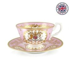 【The Royal Collection】Georgian Teacup and Saucer PINK ロイヤルコレクション ジョージアン ティーカップ&ソーサー ピンク
