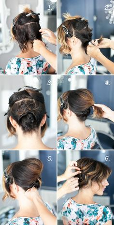 Pretty Simple :: Updo for Short Hair (via Bloglovin.com )