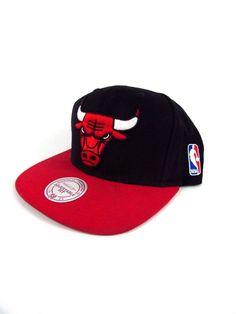 Mitchell   Ness Chicago Bulls Snapback Hat All BLK WHT  RED  MitchellNess   Snapback. Pikes Primitive Picks · Trucker Snapback Hats 096e2550f3e9