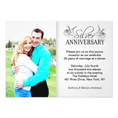 See Moresilver 25th wedding anniversary photo invitationsyou will get best price offer lowest prices or diccount coupone