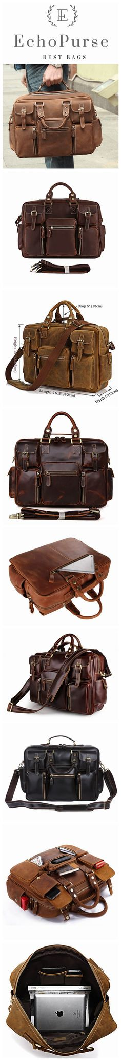 Top Grain Leather Briefcase, Conference Messenger Bag, Business Laptop Bag MW7028