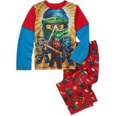 Boys' Licensed 2 Piece Poly Pajama Sleepwear Set, Available in 19 Characters, Size: 10/12