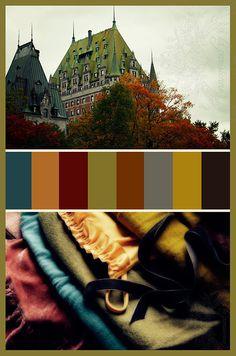 Autumn Palette from A la Parisienne blog .... images and design by à la parisienne
