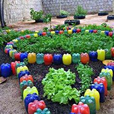 Tire Garden, Eco Garden, Recycled Garden, Bottle Garden, Vegetable Garden Design, Pallets Garden, Garden Crafts, Garden Projects, Garden Art