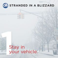 Stranded in a Blizzard? 5 Tips to Help You Stay Safe: 1. Stay in your vehicle. | onstarconnections.com | #onstar #blizzard #safety #tips