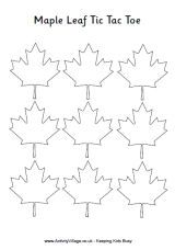 Print and play our simple maple leaf tic tac toe game with kids on Canada Day! Happy Birthday Canada, Happy Canada Day, Maple Leaf Template, Canada Celebrations, Diy Craft Projects, Crafts For Kids, Canada Day Crafts, Canada Day Party, Canada Maple Leaf