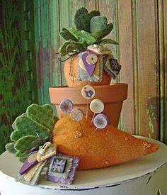 Carrots pincusions - adorable!