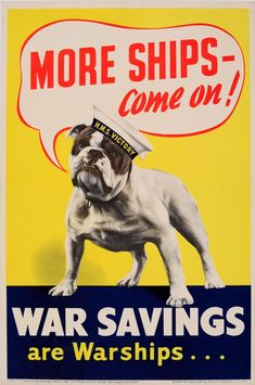 Original Vintage Posters -> War Posters -> More Ships Bulldog UK WWII - AntikBar