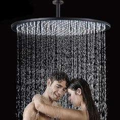 Ceiling Mounted Round Shower Head — Index CoveYou can find Shower heads and more on our website.Ceiling Mounted Round Shower Head — Index Cove Rain Shower Bathroom, Shower Arm, Shower Faucet, Bath Shower, Blue Tower, Large Shower Heads, Rain Shower Heads, Shower Heads Best, Ceiling Shower Head
