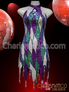 Charismatico Dancewear Store - CHARISMATICO Exotic Purple, periwinkle, and white sequin patchwork high-necked dance dress, $169.00 (http://www.charismatico-dancewear.com/charismatico-exotic-purple-periwinkle-and-white-sequin-patchwork-high-necked-dance-dress/)