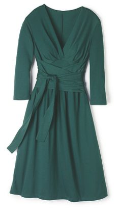 The perfect holiday dress! Could be worn to work or a dinner party so it's super versatile! I love that it's not red! It will give the perfect pop of holiday color! Avon Clothing, Clothing Items, Cocktail Parties, Holiday Parties, Knit Dress, Wrap Dress, Avon Products, Cool Style, My Style