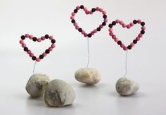 Deko-Herz aus Perlen